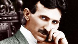 Științific nebun Nikola Tesla imagine